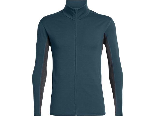 Icebreaker Delta T-shirt manches longues avec demi-zip Homme, nightfall/jet heather